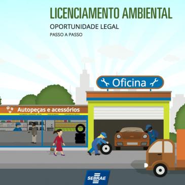 Baixe em nosso site a cartilha Licenciamento Ambiental produzida pelo Sebrae.
