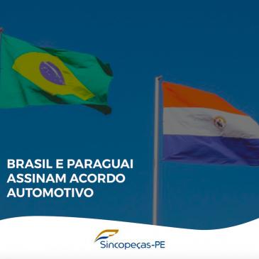 Brasil assina acordo de livre comércio de veículos e autopeças com o Paraguai